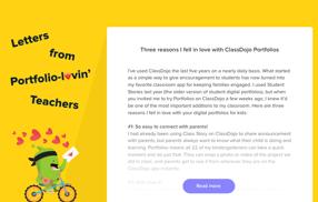 Digital Portfolio App for Students - Display Classroom Work