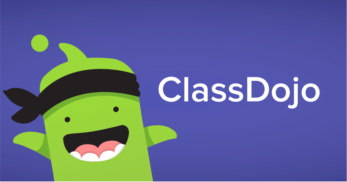Class Dojo Icon in green with purple background